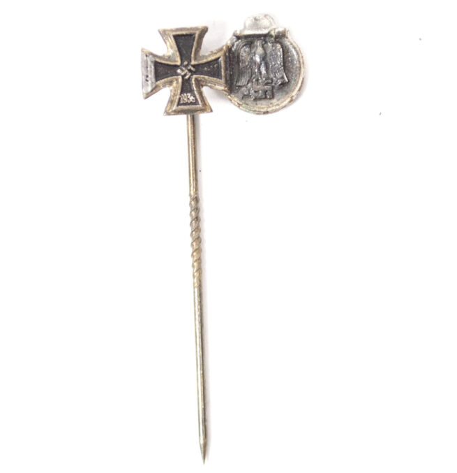 WWII German stickpin with EK2 and Ostmedaille (RARE!)