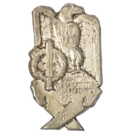 Wettkampftagen der SA-Gruppe Niedersachsen 1936 badge
