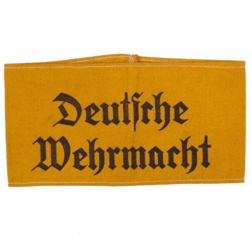 Armband Deutsche Wehrmacht used in the Netherlands, stamped Doetinchem.