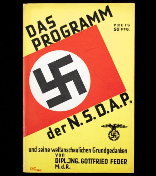 (Brochure) Das Programm der N.S.D.A.P.