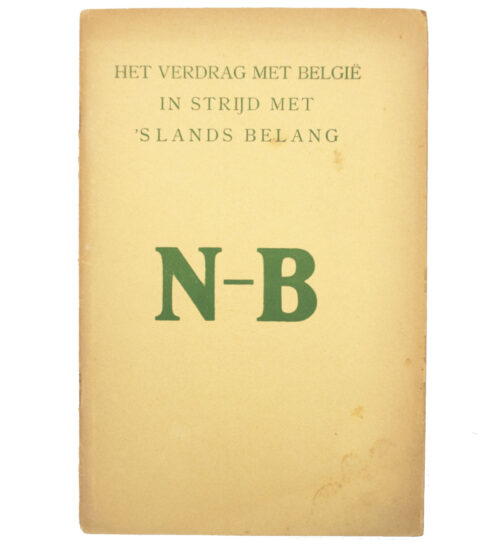 (Brochure) Het Verdrag met België in 's Lands Belang N-B