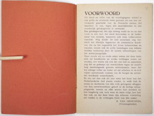 (Brochure NSB) Zomerzangfeesten der NSB (variation!) (1943)