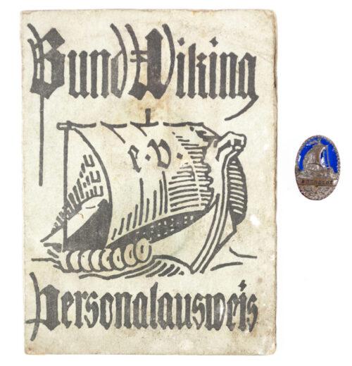 Bund Wiking Personalausweis (Marinebrigade Ehrhardt) + Memberbadge