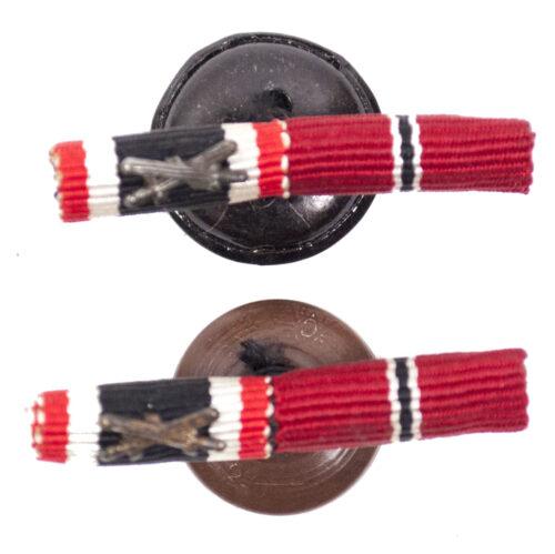Double buttonhole ribbon with War Merit medal (KVK) + ostmedal
