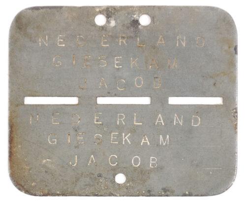 Dutch Army before 1940 Nederlandse Leger voor 1940 – Schuitje en Herkenningsplaatje Regiment Jagers