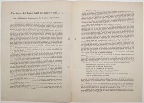 Dutch SS Waffen SS - Nederlandsche Jongens in de SS Standarte Westland