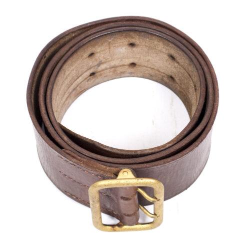 NSDAP brown political leaders belt + buckle (RZM M5301 maker Dominik Schönbaumfelds Sohn from Wien)