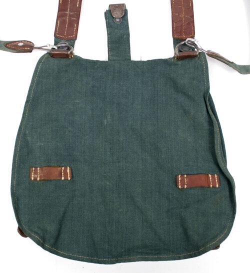 Polizei grüne Brotbeutel Police green Breadbag with strap