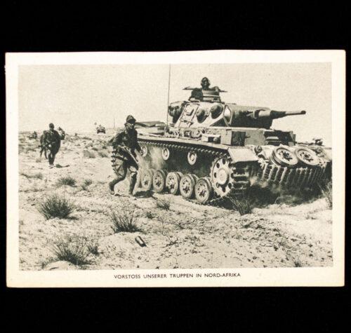 (Postcard) Vorstoss unserer Truppen in Nord-Afrika