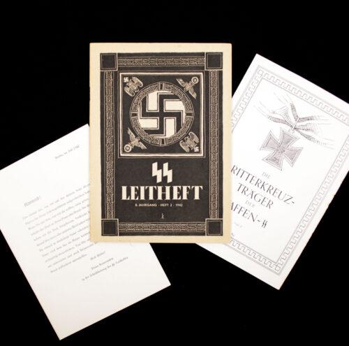 SS Leitheft 8. Jahrgang Heft 2. 1942 (Including Die Ritterkreuzträger der Waffen SS + special add on letter)
