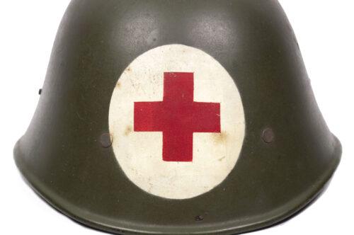 WWII Nederlandse leger 1940 Artsen helm (Geneeskundige Troepen)