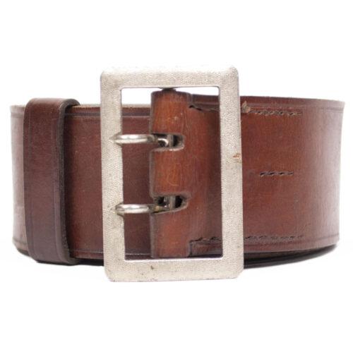 Wehrmacht (Heer) brown officers belt (marked Groupon 256 and A (maker Assmann)