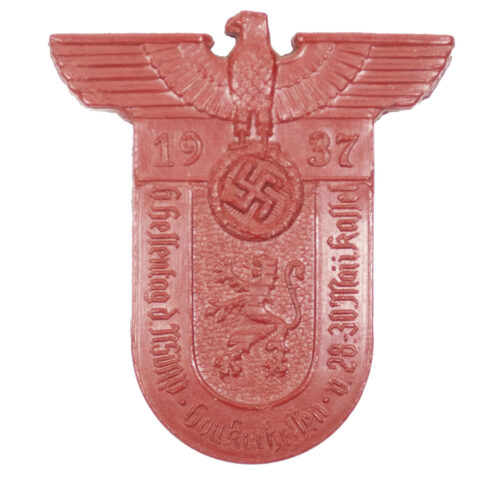 6. Hessentag der NSDAP Gau Kurhessen v.28.-30 Mai in Kassel 1937 abzeichen