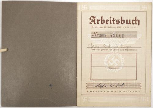 Arbeitsbuch second type from Arbeitsamt Kaiserslautern 1940