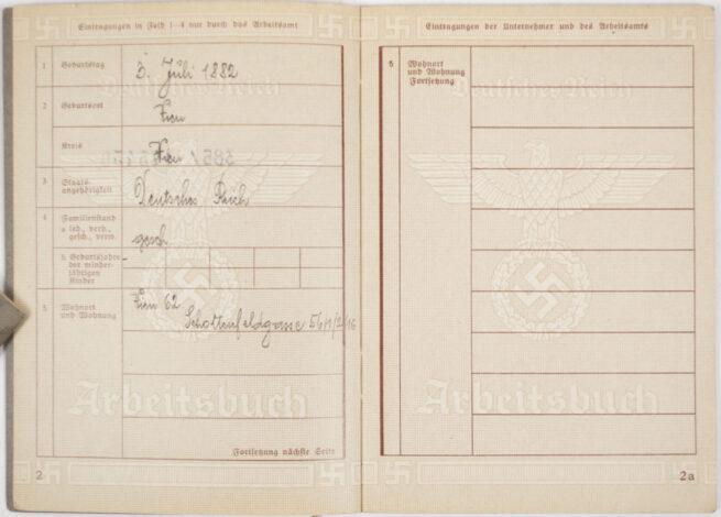 Arbeitsbuch second type from Arbeitsamt Wien + Zusatzanmerkung