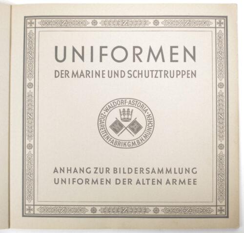 (Book) Uniformen der Marine und Schutztruppen (1930)