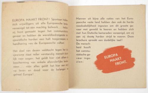 (Brochure) Dutch SS - Europa maakt Front (1942)
