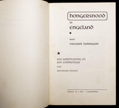 (Brochure NSB) Hongersnood in Engeland (1940)