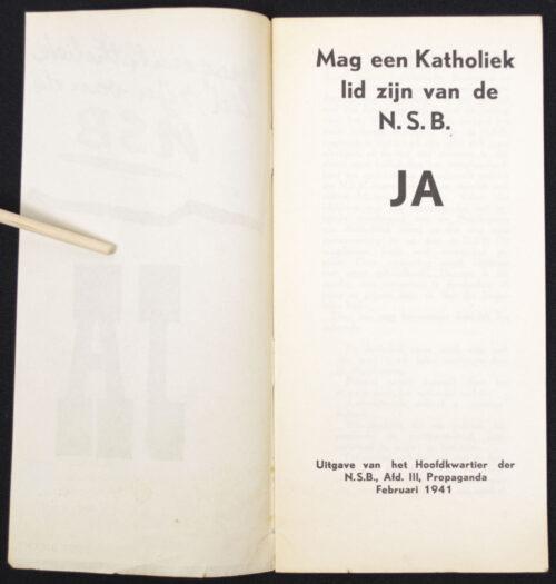 (Brochure - NSB) Mag een katholiek lid zijn van de NSB