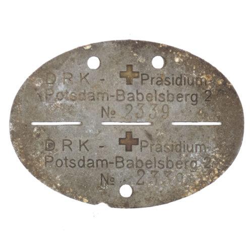 Deutsche Rote Kreuz (DRK) Erkennungsmarke Potsdam-Babelsberg
