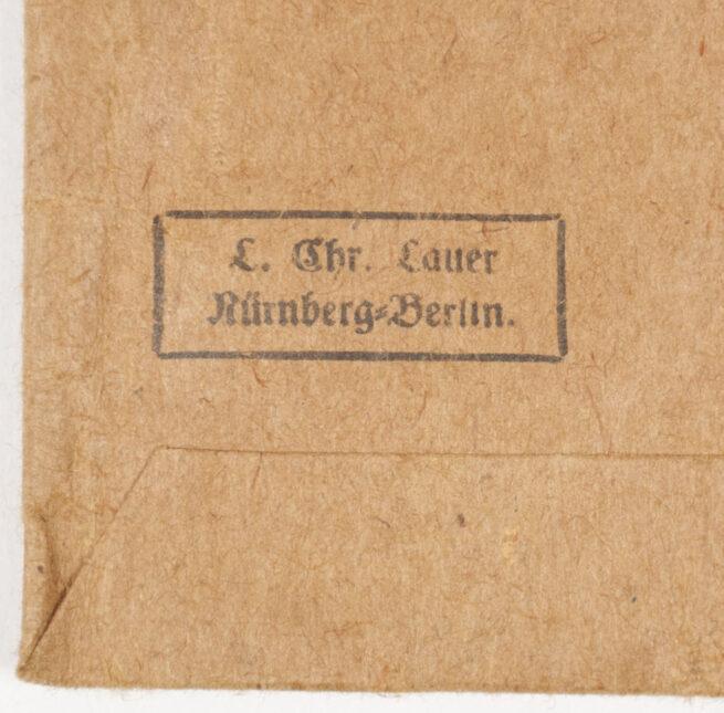 Deutsches Schutzwall Ehrenzeichen Westwal medal Tüte Bag (Maker L. Chr. Lauer)