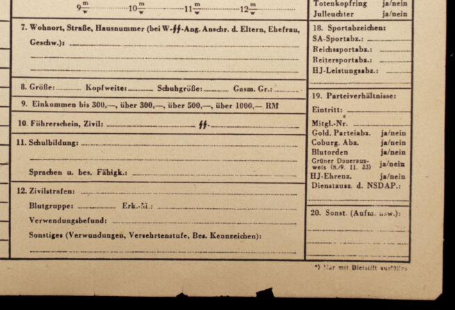 (Document) SS-Stammkarte