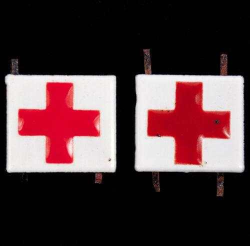 (Dutch Army) Geneeskundige Troepen Rode kruis kraagspiegel insignia