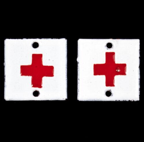 (Dutch Army before 1940) Geneeskundige Troepen Rode kruis kraagspiegel insignia