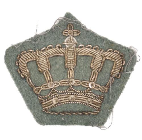 (Dutch Army before 1940) Kroon zilverdraad