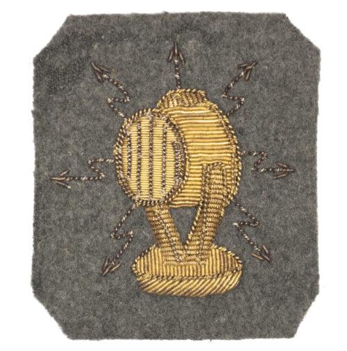 (Dutch Army before 1940) cloth Hulp-elektricien arm badge (very rare!)