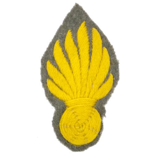 (Dutch Army before 1940) grove stof Grenadiers embleem