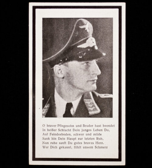 Heer Oberfeldwebel in einen Jagdgeschwader deathcard KIA 21.03.44