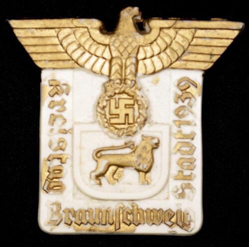 Kreistag Braunschweig Stadt 1939 Abzeichen (Maker Richard Sieper & Sohne)
