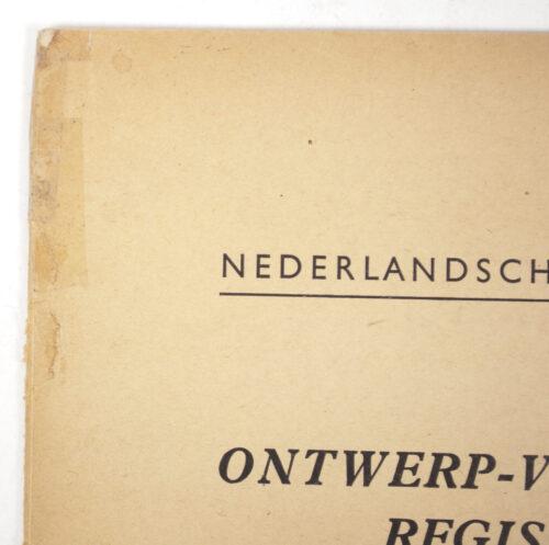 Nederlandsche Arbeidsdienst (NAD) Ontwerp-Voorschrift Registratie (1944)