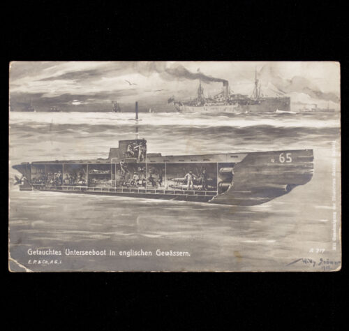 (Postcard) Getauchtes Unterseeboot in Englischen Gewässern