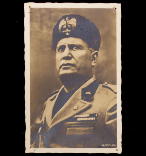 (Postcard) Mussolini portrait