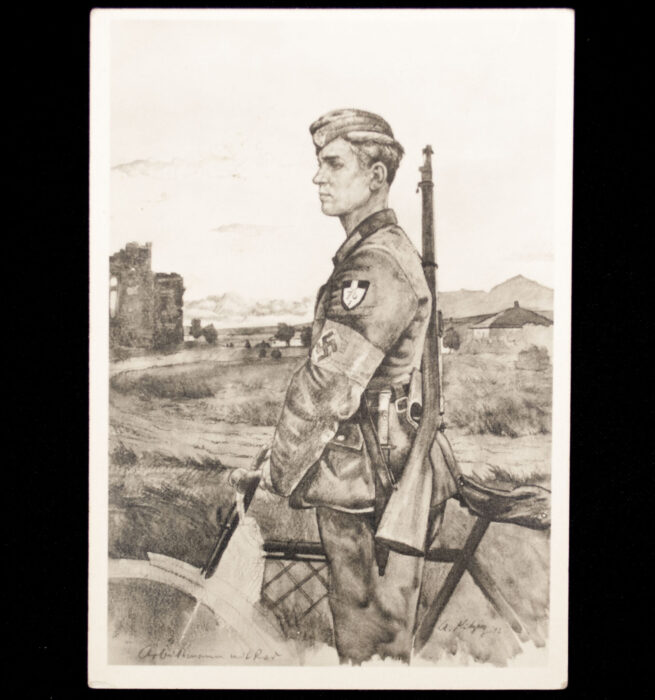 (Postcard) Reichsarbeitsdienst (RAD) Arbeitsmann