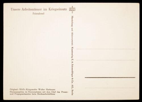 (Postcard) Reichsarbeitsdienst (RAD) Feierabend