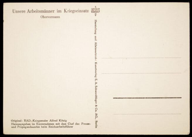 (Postcard) Reichsarbeitsdienst (RAD) Obervormann