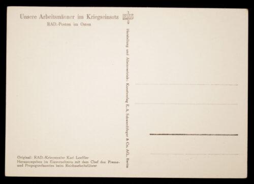 (Postcard) Reichsarbeitsdienst (RAD) RAD Posten im Osten