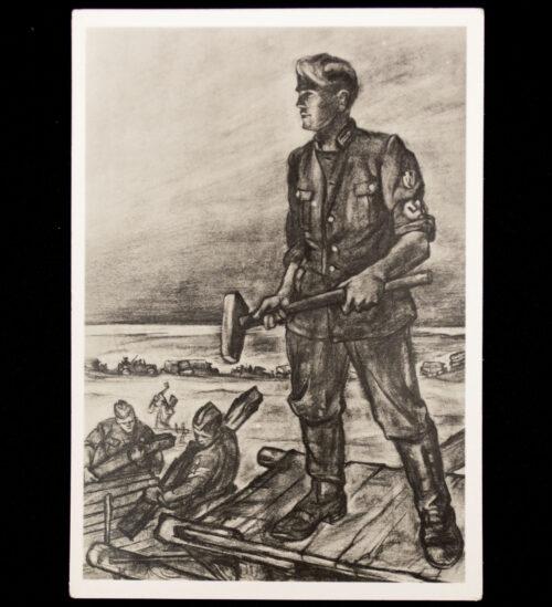 (Postcard) Reichsarbeitsdienst (RAD) RAD an der Ostfront