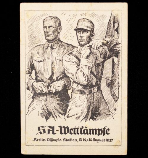 (Postcard) SA - Wettkämpfe - Berlin Olympia Stadion 13.14.&15. August 1937