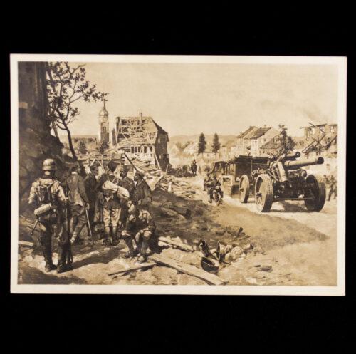 (Postcard) Vormarsch des XII. A.-K