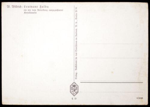 (Postcard) W. Willrich - Leutnant Fulda