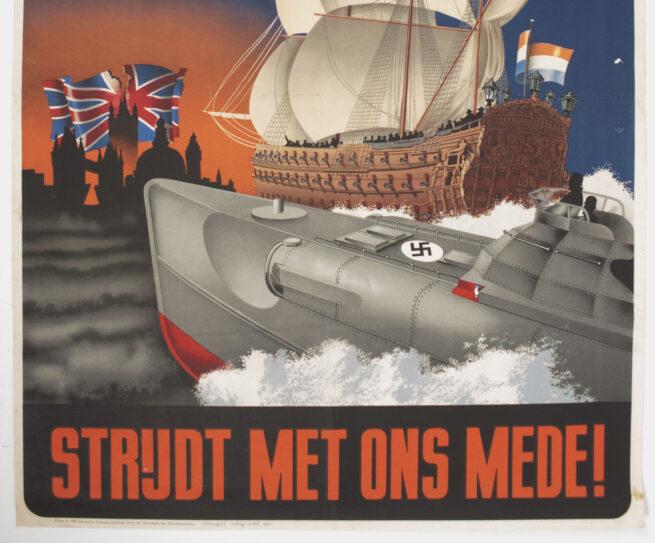 (Poster / NSB) Steeds dezelfde vijand! 1673 - 1943 (Rare!)