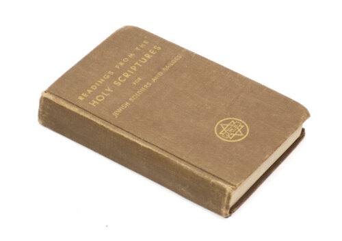 Readings from the Holy Scriptures for Jewish soldiers and sailors (1942)