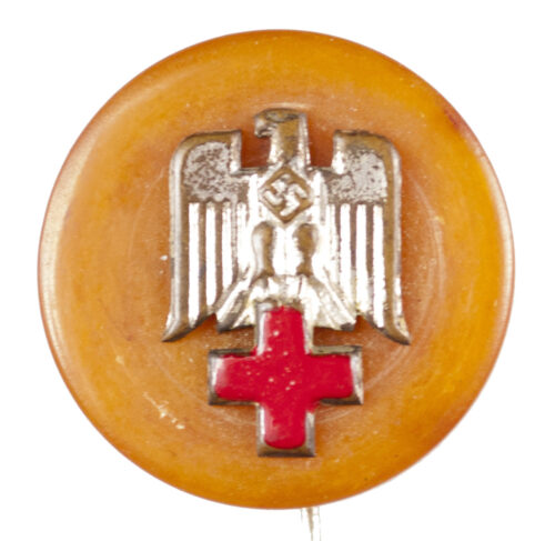 WWII Deutsches Rotes Kreuz (DRK) Bernstein Nadel issued by the Winterhilfswerk (WHW)