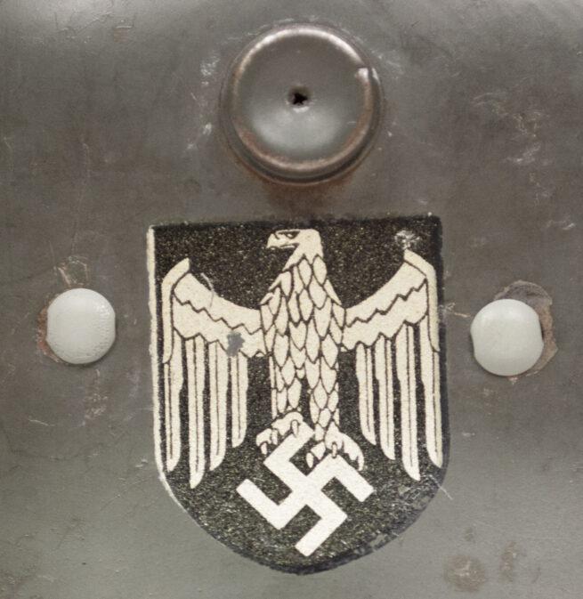 WWII German Heer M35 double decal toy helmet