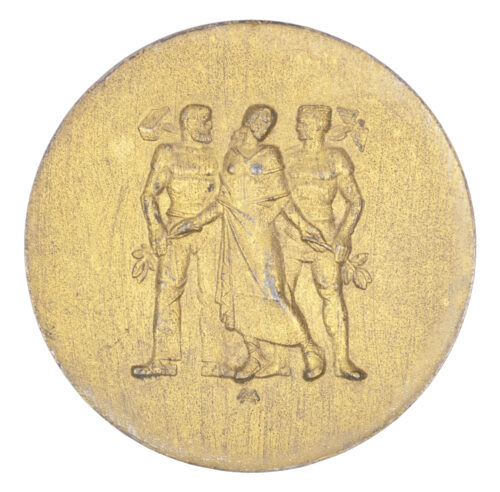 WWII German plaque in gold Für langjährige Mitarbeit im Dienste der pfälzischen Wirtschaft