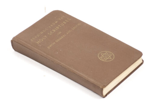 WWII USA - Readings from the Holy Scriptures for Jewish soldiers and sailors (1942)